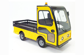 Flat Bed Vehicle with cab and wooden sides