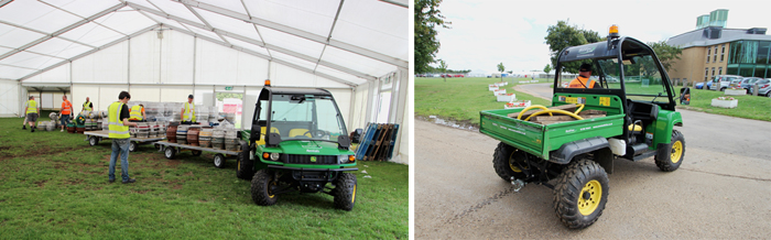 Event vehicles at Peterborough Beer Festival 2015